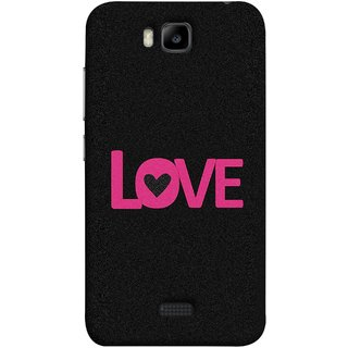 FUSON Designer Back Case Cover For Huawei Honor Bee :: Huawei Honor Bee Y5c (Love Life Forever Hearts Real Love True Lovers Valentine)