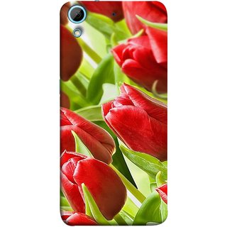 FUSON Designer Back Case Cover For HTC Desire 728 Dual Sim :: HTC Desire 728G Dual Sim (Close Up Red Roses Chocolate Hearts For Valentines Day)
