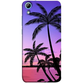 FUSON Designer Back Case Cover For HTC Desire 820 :: HTC Desire 820 Dual Sim ::  HTC Desire 820S Dual Sim :: HTC Desire 820Q Dual Sim ::  HTC Desire 820G+ Dual Sim ( Twilight On The Beach Coconuts Goa Beach Holidays )
