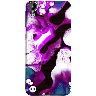 FUSON Designer Back Case Cover For HTC Desire 530 (Purple Painting Wallpaper White Iceberg River Flow)