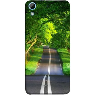 FUSON Designer Back Case Cover For HTC Desire 728 Dual Sim :: HTC Desire 728G Dual Sim (Road Surrounded By Mountains Beautiful Old Trees )