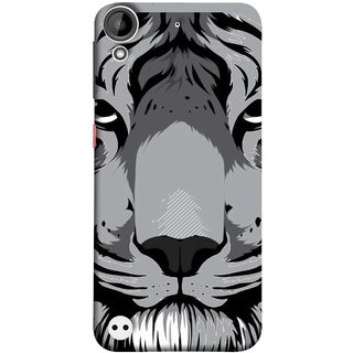 FUSON Designer Back Case Cover For HTC Desire 530 (Grey Tiger Looking Into Eyes Whiskers Chitta)