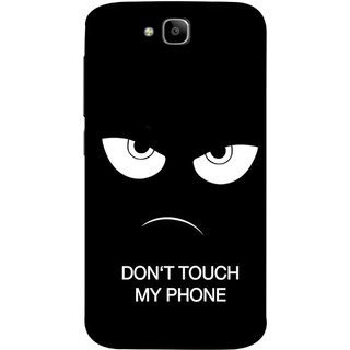 FUSON Designer Back Case Cover For Huawei Honor Holly 2 Plus :: Huawei Honor 2 Plus (Nice Best Quotes Words Saying Motivational Angry Eyes)
