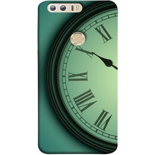 FUSON Designer Back Case Cover For Huawei Honor 8 (Time Lapse Of Antique Clock Old Wooden Vintage Time)