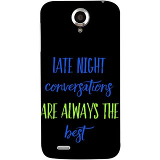 FUSON Designer Back Case Cover For Lenovo S820 (Late Night Talking Is Real And Best True Result Output)