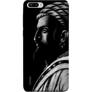 FUSON Designer Back Case Cover For Huawei Honor 6 Plus (Chatrapati Shivaji Maharaj Sideview Jiretop With Beard)