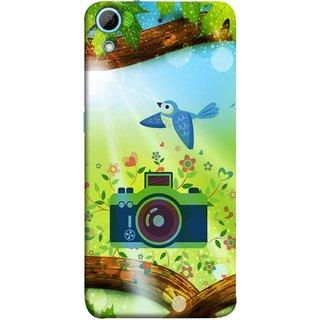 FUSON Designer Back Case Cover For HTC Desire 728 Dual Sim :: HTC Desire 728G Dual Sim (Camera Nature Flowers Blue Sky White Clouds Beautiful )