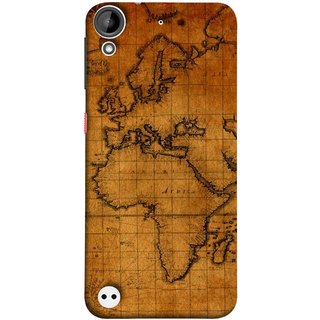 FUSON Designer Back Case Cover For HTC Desire 530 (World Map Altitude And Longitude Countries India )