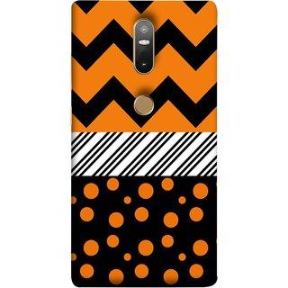 FUSON Designer Back Case Cover For Lenovo Phab 2 Plus :: Lenovo Phab2+ (Pack Craft Paper Orange Dots On Black Background)