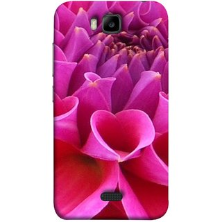 FUSON Designer Back Case Cover For Huawei Honor Bee :: Huawei Honor Bee Y5c (Floral Patterns Shining Dark Red Florals Design Patterns)