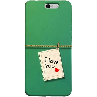 FUSON Designer Back Case Cover For InFocus M812 (You Message Card Over Red Wooden Board Stock Photos)