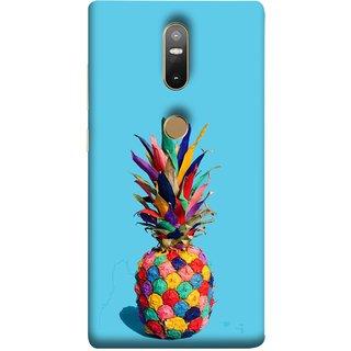 FUSON Designer Back Case Cover For Lenovo Phab 2 Plus :: Lenovo Phab2+ (Light Bright Cream Pineapple Lamp Ananas Pineapple Skin)