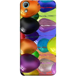 FUSON Designer Back Case Cover For HTC Desire 728 Dual Sim :: HTC Desire 728G Dual Sim (Watercolor Colorful Holiday Sketch Balloons Set )