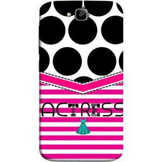 FUSON Designer Back Case Cover For Huawei Honor Holly 2 Plus :: Huawei Honor 2 Plus (Beautufil Actress Movies Bollywood Nice Pink Design Paper)