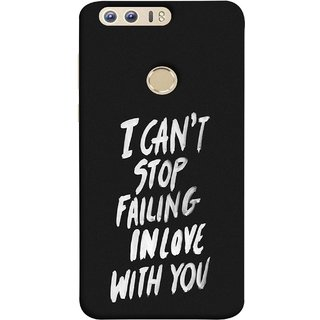 FUSON Designer Back Case Cover For Huawei Honor 8 (Best Quotes Love Words Always Happy Together)