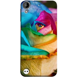 FUSON Designer Back Case Cover For HTC Desire 530 (Rose Colours Red Pink Yellow Blue Lovely Roses)