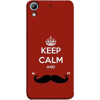 FUSON Designer Back Case Cover For HTC Desire 626G :: HTC Desire 626 Dual SIM :: HTC Desire 626S :: HTC Desire 626 USA :: HTC Desire 626G+ :: HTC Desire 626G Plus (Beautiful Mustache Always Stay Silent Work Resolve)