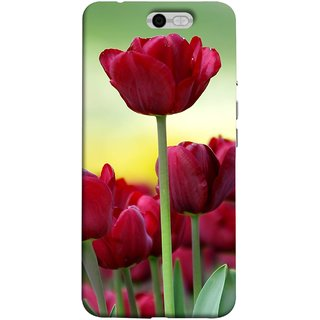 FUSON Designer Back Case Cover For InFocus M812 (Dark Bold Red Roses Chocolate Hearts For Valentines Day)