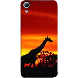 FUSON Designer Back Case Cover For HTC Desire 626G :: HTC Desire 626 Dual SIM :: HTC Desire 626S :: HTC Desire 626 USA :: HTC Desire 626G+ :: HTC Desire 626G Plus (Africa Sunset Giraffe Evening Wildlife Animals )