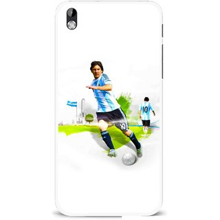 Snooky Printed Football Mania Mobile Back Cover For HTC Desire 816 - Multi