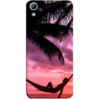 FUSON Designer Back Case Cover For HTC Desire 626G :: HTC Desire 626 Dual SIM :: HTC Desire 626S :: HTC Desire 626 USA :: HTC Desire 626G+ :: HTC Desire 626G Plus (Sunset Beach Hammock Chillout Wallpapers Palmtrees)