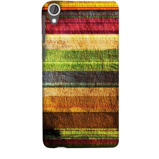 FUSON Designer Back Case Cover For HTC Desire 825 (Horizontal Rainbow Painted Brush Strokes Art)