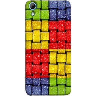 FUSON Designer Back Case Cover For HTC Desire 626G :: HTC Desire 626 Dual SIM :: HTC Desire 626S :: HTC Desire 626 USA :: HTC Desire 626G+ :: HTC Desire 626G Plus (Bright And Beautiful Colour Strips And Band Wave )