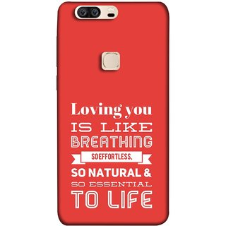 FUSON Designer Back Case Cover For Huawei Honor V8 (So Natural And So Essential To Life Lover Forever)