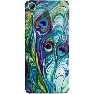 FUSON Designer Back Case Cover For HTC Desire 728 Dual Sim :: HTC Desire 728G Dual Sim (Colourful Psychee Vibrant Colors Modern Art Silk Paintings )