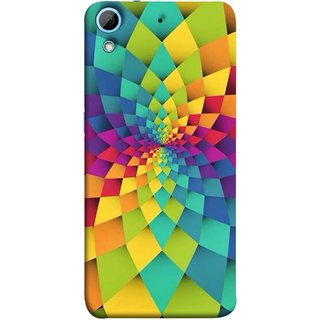 FUSON Designer Back Case Cover For HTC Desire 728 Dual Sim :: HTC Desire 728G Dual Sim (Polygonal Background Colorful Abstract Geometric Best)