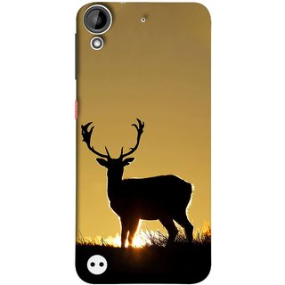 FUSON Designer Back Case Cover For HTC Desire 530 (Adult Alone Animals Very Big Horns Looking Back)