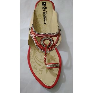 Gomnar Fancy Red Casual Synthetic Leather Womens Footwears