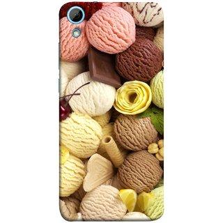FUSON Designer Back Case Cover For HTC Desire 820 :: HTC Desire 820 Dual Sim ::  HTC Desire 820S Dual Sim :: HTC Desire 820Q Dual Sim ::  HTC Desire 820G+ Dual Sim (Cool Desserts Flavors Banana Chocolate Chips)