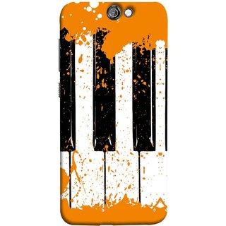 FUSON Designer Back Case Cover For HTC One A9 (Black And White Colour Splash Droplets Music )
