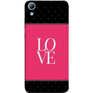 FUSON Designer Back Case Cover For HTC Desire 828 Dual Sim (White Dots On Black Background Prem Pyar)