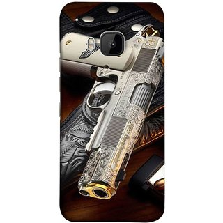 FUSON Designer Back Case Cover For HTC One M9 :: HTC One M9S :: HTC M9 (Gun Pouch Holder Loading Bullets Killing Murders )