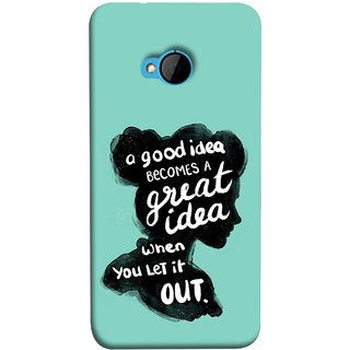 FUSON Designer Back Case Cover For HTC M7 :: HTC One M7 (Black Colour Lady Photo Best Ideas Become Great)