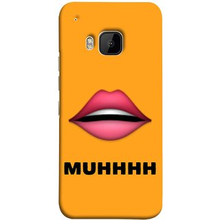 FUSON Designer Back Case Cover For HTC One M9 :: HTC One M9S :: HTC M9 (Red Lips Pinky Flying Kisses Girl Lovers Couples Hot)