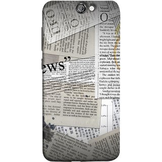 FUSON Designer Back Case Cover For HTC One A9 (Book Magazine Clippings Create Text-Based Newspaper)