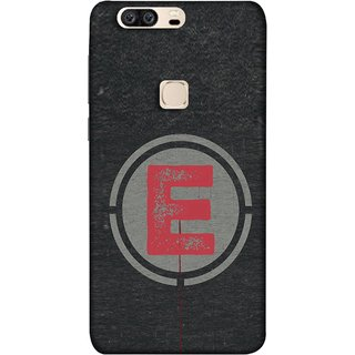 FUSON Designer Back Case Cover For Huawei Honor V8 (Dark Alphabet Circle Vintage Grey Circle Pattern E)