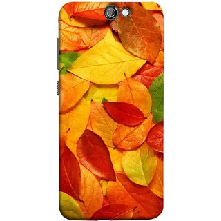 FUSON Designer Back Case Cover For HTC One A9 (Multicolour Dry Leaves Painting Bright Sunny Day )
