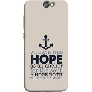 FUSON Designer Back Case Cover For HTC One A9 (A Hope Both Sure And Steadfast Deep Sea Anchor Ship)