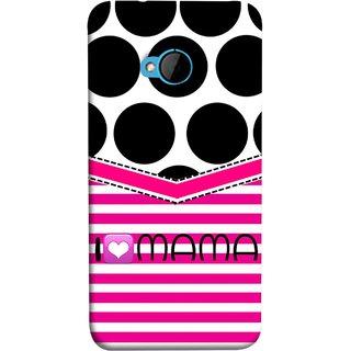 FUSON Designer Back Case Cover For HTC M7 :: HTC One M7 (Pink Design Paper Big Black Circles Bubbles Mother )