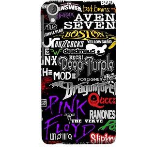 FUSON Designer Back Case Cover For HTC Desire 825 (Deep Purple Ramones Beck Slipknot Pink Floyd )