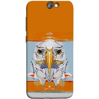 FUSON Designer Back Case Cover For HTC One A9 (Stearing Eyes Deadly Look Canvas Vision Bird Sky High)