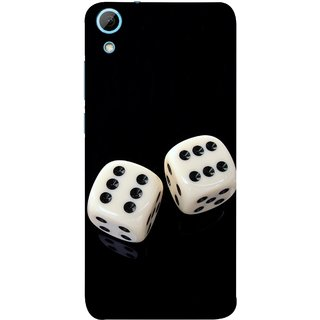 FUSON Designer Back Case Cover For HTC Desire 828 Dual Sim (Dice Pair Nice Game India Fevorite Children Boys Girls )