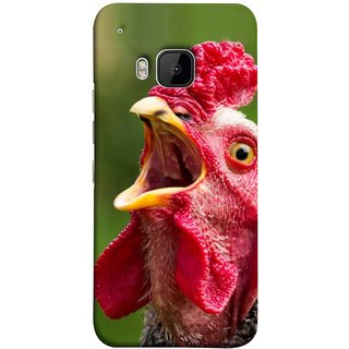 FUSON Designer Back Case Cover For HTC One M9 :: HTC One M9S :: HTC M9 (A Crowing Chicken Green Grass Village Morning )