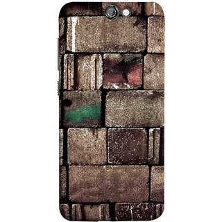 FUSON Designer Back Case Cover For HTC One A9 (Irregular Shapes Ancient Different Sizes Wallpaper)