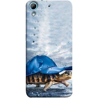 FUSON Designer Back Case Cover For HTC Desire 626G :: HTC Desire 626 Dual SIM :: HTC Desire 626S :: HTC Desire 626 USA :: HTC Desire 626G+ :: HTC Desire 626G Plus (Cute Tortoise Turtle Wearing A Party Hat Water Drops)