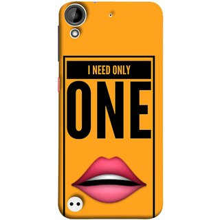 FUSON Designer Back Case Cover For HTC Desire 530 (Hot Girl Couples Red Lips Pinky Flying Kisses Girl Lovers)